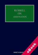 Cover of Russell on Arbitration (eBook)