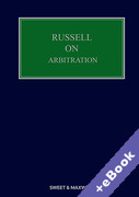 Cover of Russell on Arbitration (Book & eBook Pack)