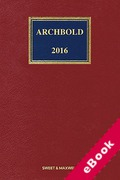 Cover of Archbold: Criminal Pleading, Evidence and Practice 2016 (eBook)