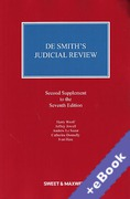 Cover of De Smith's Judicial Review 7th ed: 2nd Supplement (Book & eBook Pack)