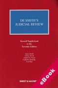 Cover of De Smith's Judicial Review 7th ed: 2nd Supplement (eBook)
