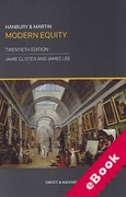 Cover of Hanbury and Martin: Modern Equity (eBook)