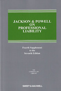 Cover of Jackson & Powell on Professional Liability 7th ed: 4th Supplement