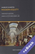 Cover of Hanbury and Martin: Modern Equity (Book & eBook Pack)