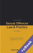 Cover of Rook and Ward on Sexual Offences: Law & Practice (Book & eBook Pack)