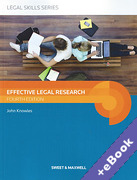 Cover of Effective Legal Research (Book & eBook Pack)
