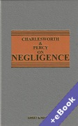 Cover of Charlesworth & Percy on Negligence 13th ed with 1st Supplement (Book & eBook Pack)
