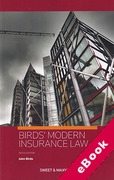 Cover of Birds' Modern Insurance Law (eBook)