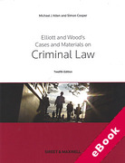Cover of Elliott and Wood's Cases and Materials on Criminal Law (eBook)