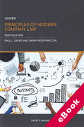 Cover of Gower Principles of Modern Company Law (eBook)