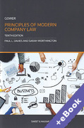 Cover of Gower Principles of Modern Company Law (Book & eBook Pack)