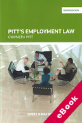 Cover of Pitt's Employment Law (eBook)