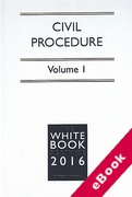 Cover of The White Book Service 2016: Civil Procedure Volume 1 only (eBook)