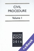 Cover of The White Book Service 2016: Civil Procedure Volume 1 only (Book & eBook Pack)