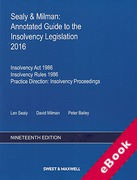 Cover of Sealy & Milman: Annotated Guide to the Insolvency Legislation 2016: Volumes 1 & 2 (eBook)