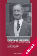 Cover of Parry and Kerridge: The Law of Succession (eBook)