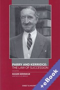 Cover of Parry and Kerridge: The Law of Succession (Book & eBook Pack)