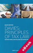 Cover of Davies: Principles of Tax Law (eBook)