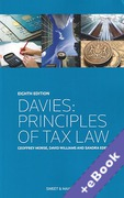 Cover of Davies: Principles of Tax Law (Book & eBook Pack)