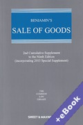 Cover of Benjamin's Sale of Goods 9th ed: 2nd Supplement (Book & eBook Pack)