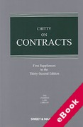 Cover of Chitty on Contracts 32nd ed: 1st Supplement (eBook)