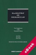 Cover of MacGillivray on Insurance Law: Relating to all Risks Other than Marine 13th ed: 1st Supplement (eBook)
