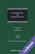 Cover of MacGillivray on Insurance Law: Relating to all Risks Other than Marine 13th ed: 1st Supplement (Book & eBook Pack)