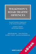 Cover of Wilkinson's Road Traffic Offences 27th ed: 2nd Supplement (eBook)