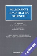 Cover of Wilkinson's Road Traffic Offences 27th ed: 1st Supplement (Book & eBook Pack)