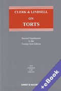 Cover of Clerk & Lindsell On Torts 21st ed: 2nd Supplement (Book & eBook Pack)