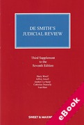 Cover of De Smith's Judicial Review 7th ed: 3rd Supplement (eBook)