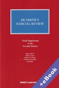 Cover of De Smith's Judicial Review 7th ed: 3rd Supplement (Book & eBook Pack)