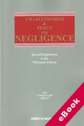 Cover of Charlesworth & Percy on Negligence 13th ed: 2nd Supplement (eBook)