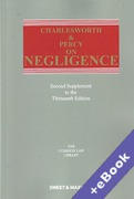 Cover of Charlesworth & Percy on Negligence 13th ed: 2nd Supplement (Book & eBook Pack)