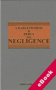 Cover of Charlesworth & Percy on Negligence 13th ed with 2nd Supplement (eBook)