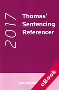 Cover of Thomas' Sentencing Referencer 2017 (eBook)