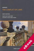Cover of Morris: The Conflict of Laws (eBook)