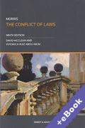 Cover of Morris: The Conflict of Laws (Book & eBook Pack)