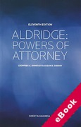 Cover of Aldridge: Powers of Attorney (eBook)