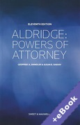 Cover of Aldridge Powers of Attorney (Book & eBook Pack)