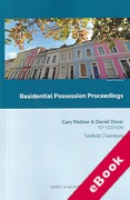 Cover of Residential Possession Proceedings (eBook)