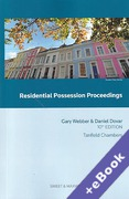 Cover of Residential Possession Proceedings (Book & eBook Pack)