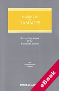 Cover of McGregor on Damages 19th ed: 2nd Supplement (eBook)