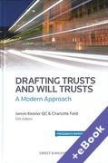 Cover of Drafting Trusts and Will Trusts: A Modern Approach (Book & eBook Pack)