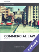 Cover of Commercial Law Textbook (Book & eBook Pack)