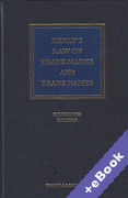 Cover of Kerly's Law of Trade Marks and Trade Names (Book & eBook Pack)
