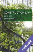 Cover of Construction Law: Law and Practice Relating to the Construction Industry (Book & eBook Pack)