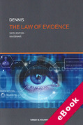Cover of The Law of Evidence (eBook)