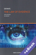 Cover of The Law of Evidence (Book & eBook Pack)