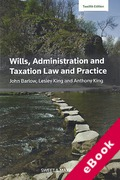 Cover of Wills, Administration and Taxation Law and Practice (eBook)